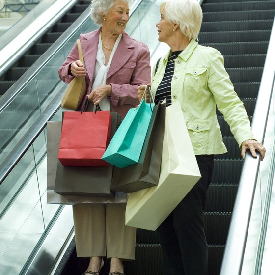 Shopping mall excursions by bus can save time and money.