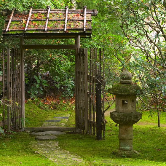 Some Japanese tea cermonies use traditional garden houses for the services.
