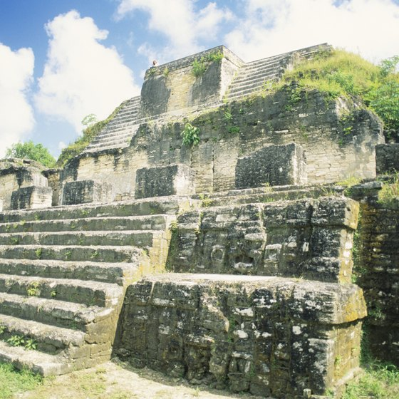 Visit ancient Mayan ruins while your cruise ship is in port at Belize.