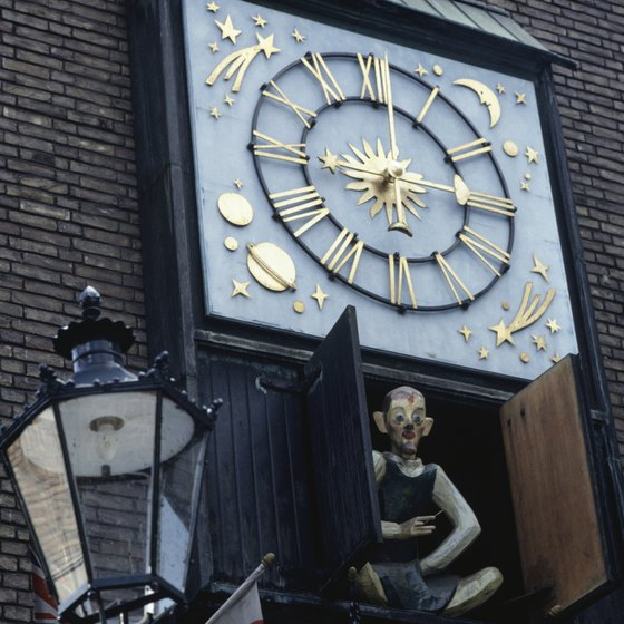 Dusseldorf's old town reveals many quirky sights.