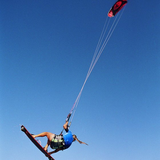 Jamaica's northerly beaches provide an excellent location for kiteboarding.