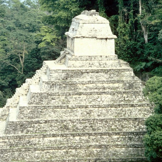 An ancient Aztec pyramid in Mexico.