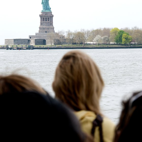 Cruises allow for up-close views of the Statue of Liberty.
