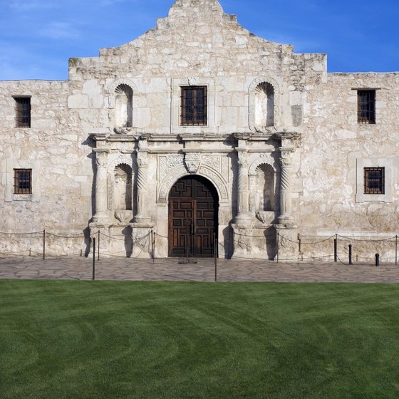 The Alamo, in downtown San Antonio, dates to the 18th century.