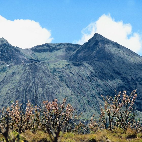 Mount Batur's volcanic cone stands out at Kintamani.