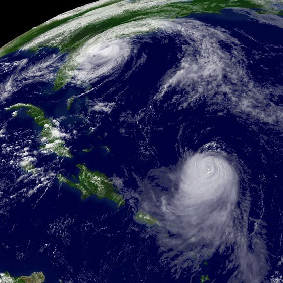 Hurricanes typically skirt the Bahamas on their way to the U.S. Eastern seaboard.