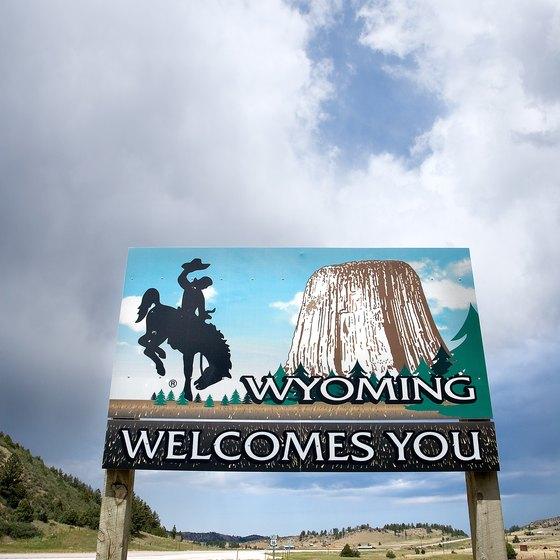 Devils Tower is one of the most popular tourist destinations in Wyoming.