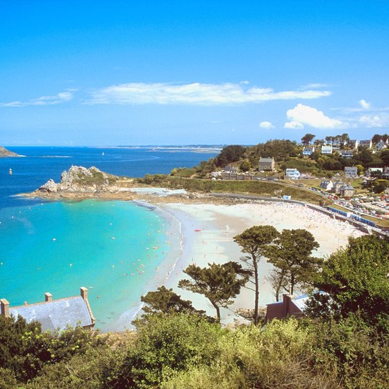 The Brittany Coast is a very popular beach destination in France.