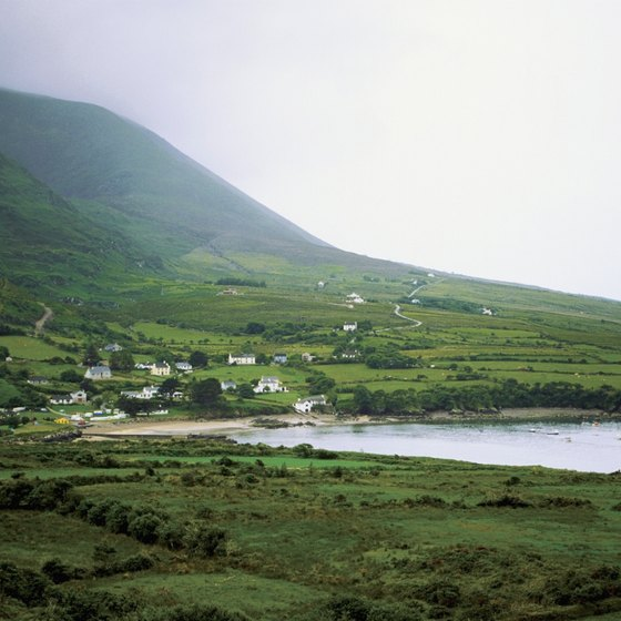 The hills of western Ireland receive more precipitation than elsewhere in the country.