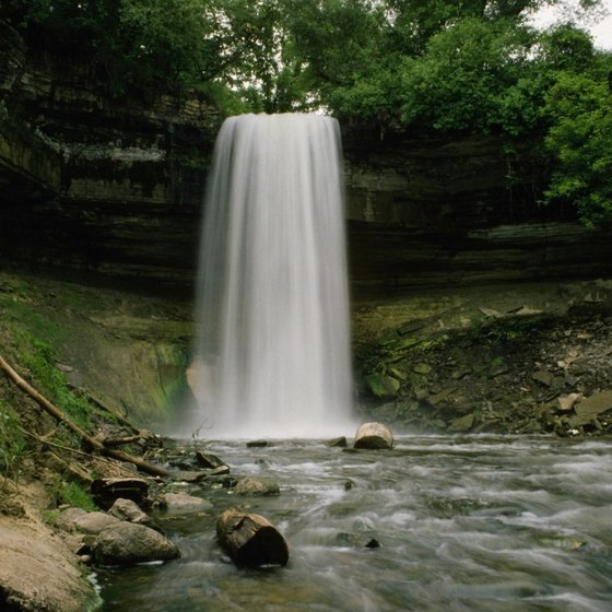 Some of Minnesota's waterfalls are located near camping faciltiies.
