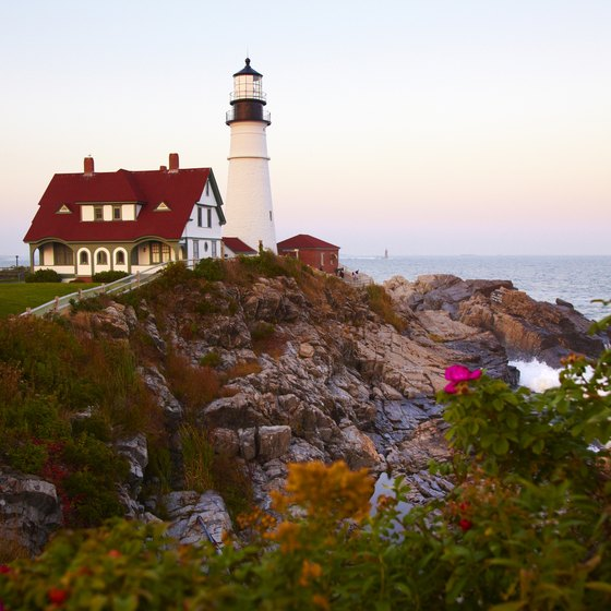 The Portland Head Lighthouse is a short drive from downtown Portland.