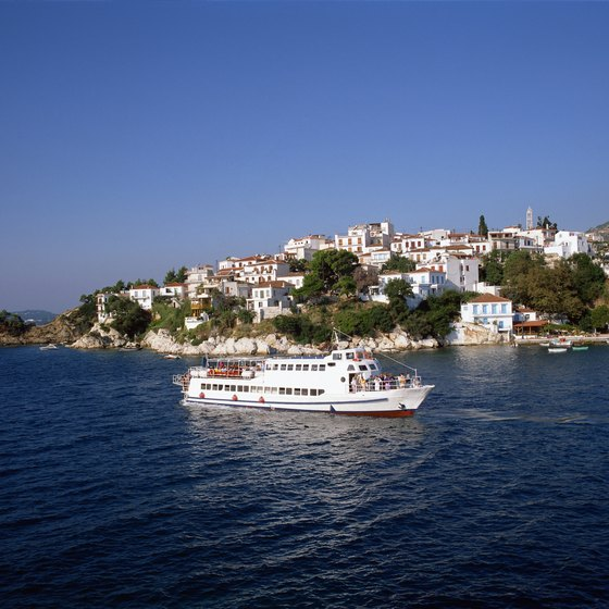 Cruise lines serve Greece's network of islands.