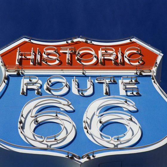 Route 66, the Mother Road, runs through downtown Williams, Arizona.