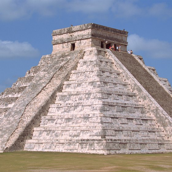 The Kukulkan pyramid at Chichen Itza is a Mayan engineering feat.