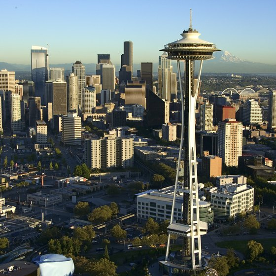 Many children's attractions in Seattle are located at the Seattle Center, home of the Space Needle.