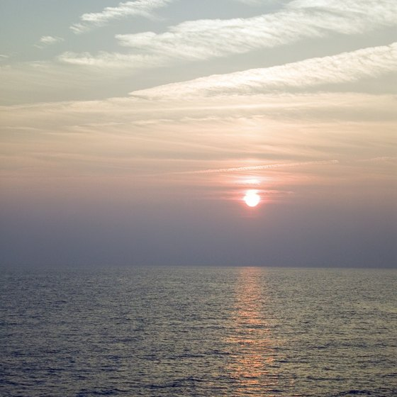 View both sunsets and sunrises over the water at Sea Bright.