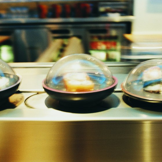 Grab your sushi from a conveyor belt in a popular Northgate restaurant.