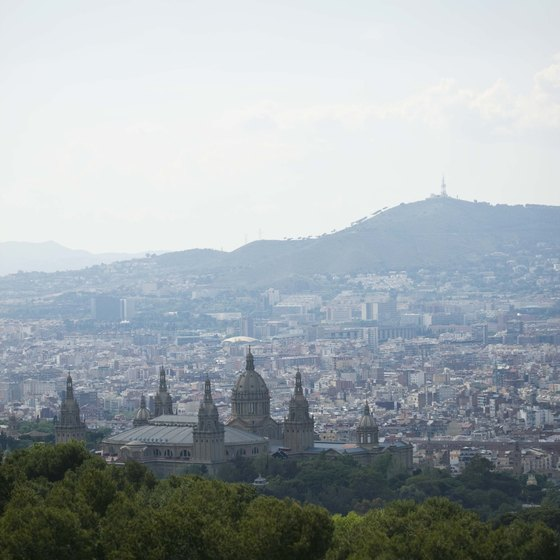 Aerial tours provide unique views of Barcelona monuments and hilltops.