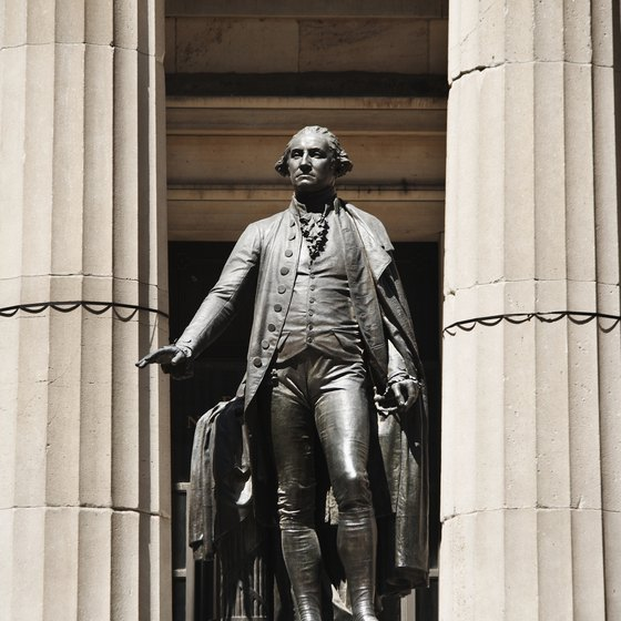 New York's Federal Hall hosted Washington's inauguration after the end of the Revolutionary War.