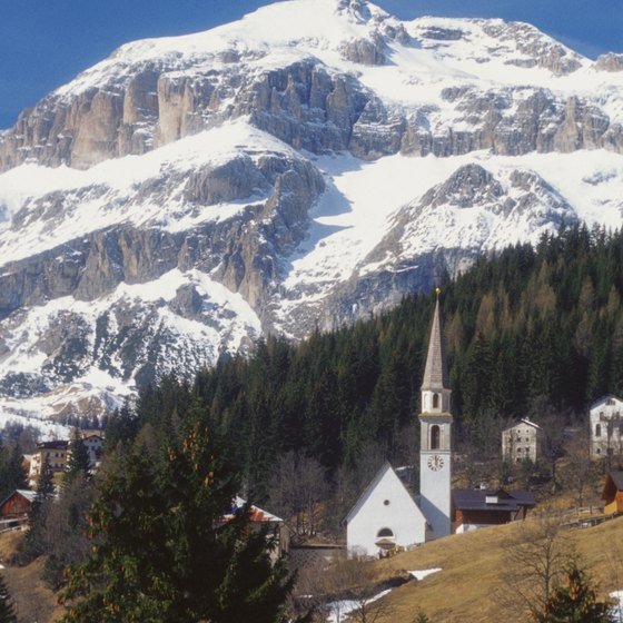 The Dolomites dominate northeastern Italy's landscape.