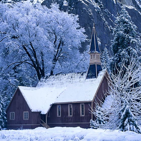 Yosemite Chapel provides dramatic scenery year round.