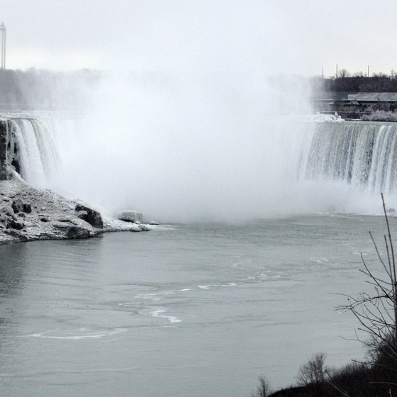 Niagara Falls in Ontario, Canada, is one of many stops for tourists taking escorted bus trips.