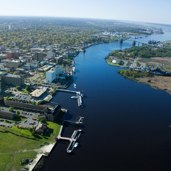 The Cape Fear River runs through the heart of Wilmington.