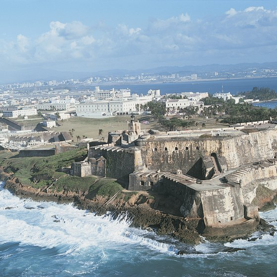 A dashing Spanish colonial fort perches on the banks of San Juan.