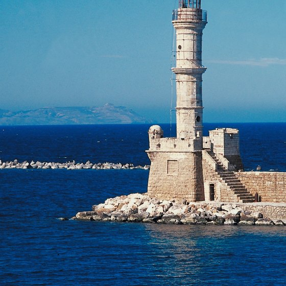 The lighthouse of Chania, the closest major town to Platanias.