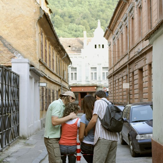 The city of Brasov sits at the northern edge of the Transylvanian Alps.