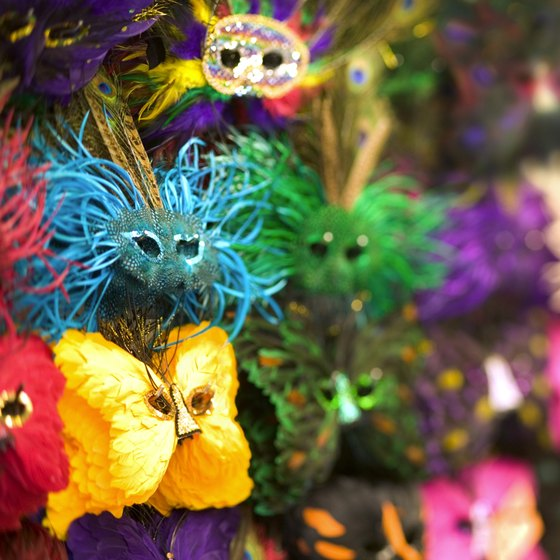 Mardi Gras masks are a traditional part of Peru's Carnival festivities.