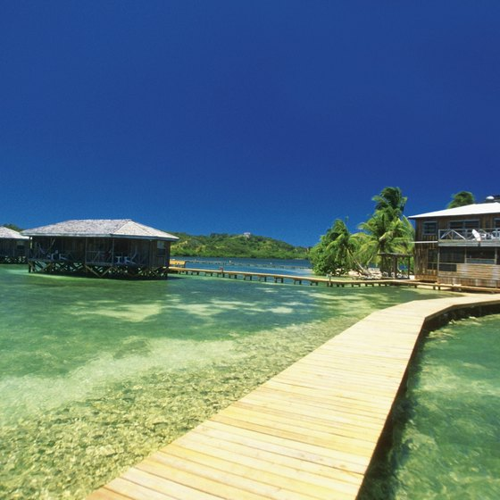 Crystal-clear water is one of the many draws to Honduran beaches.