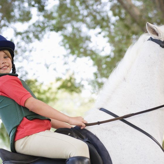 Horseback riding trips suitable for children are available around Waterville Valley.