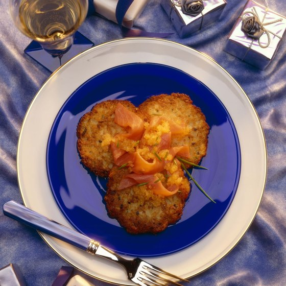 Potato pancakes are a popular dish at kosher restaurants.