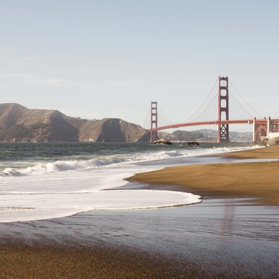 The Golden Gate Bridge is a major tourist attraction in San Francisco and the city's most famous landmark.