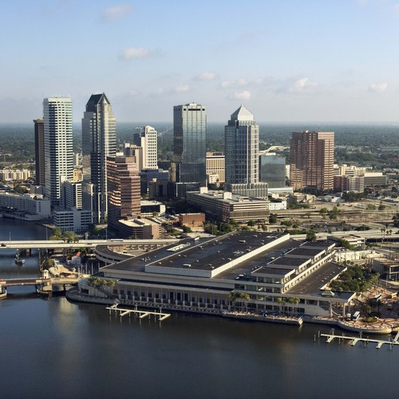 The heart of Tampa is about eight miles from the airport.