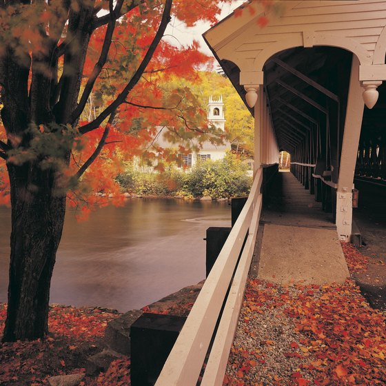 Colorful leaves and covered bridges welcome visitors to New Hampshire in the fall.