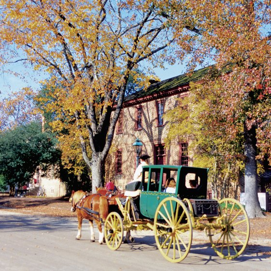Couples can enjoy a romantic horse-drawn carriage ride in Williamsburg.