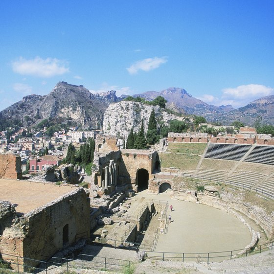 Taormina, Sicily, is one of the stops not far on tours originating in Messina.