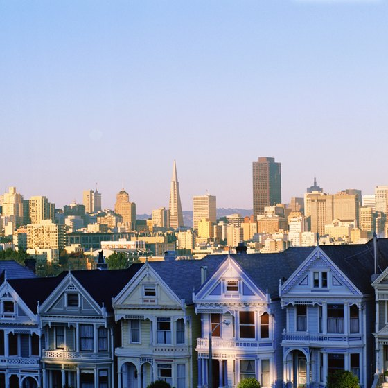 The Painted Ladies are just one of the many attractions you will see when you arrive in San Francisco from your road trip.