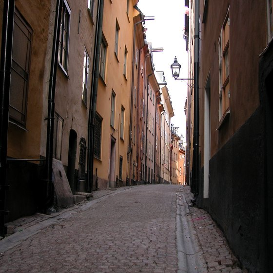 For tips on exploring the backstreets of Stockholm, pack guide books.