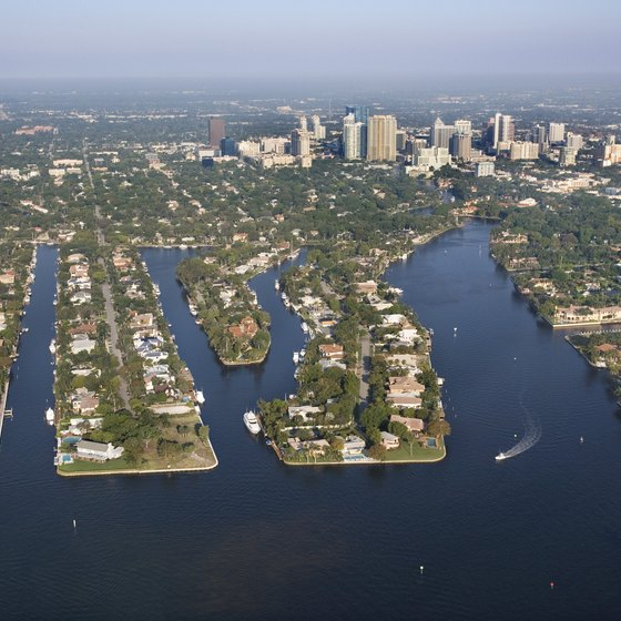 Fort Lauderdale is on the Atlantic coast of Florida, north of Miami.