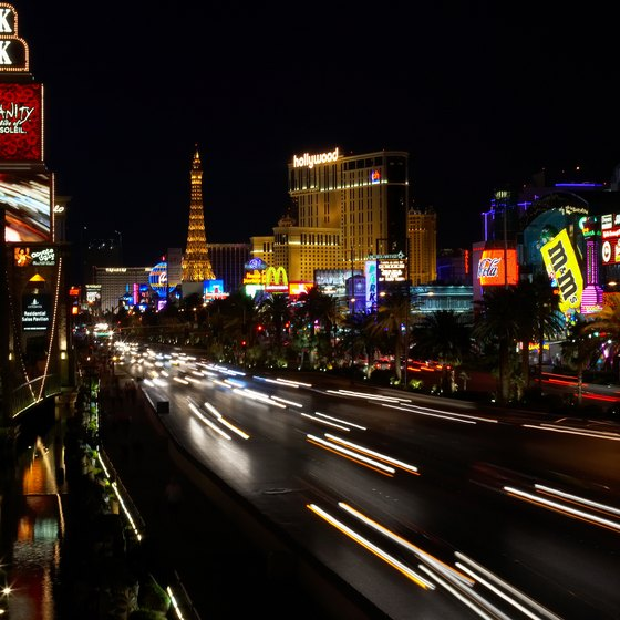 The Las Vegas Strip features both luxurious and family-friendly hotels.