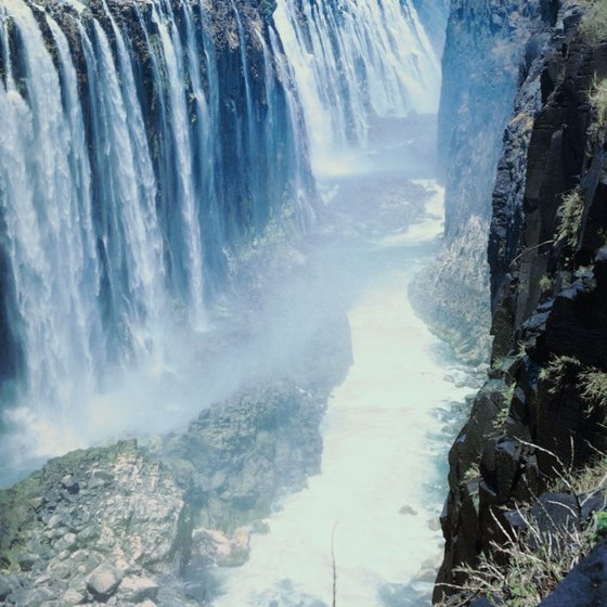 Victoria Falls serve as the boundary between the upper and middle Zambezi.
