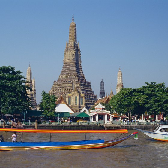 Wat Arun is one of the temples of Bangkok.