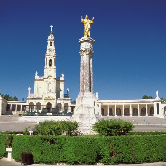 Fatima's Basilica is the town's religious center.