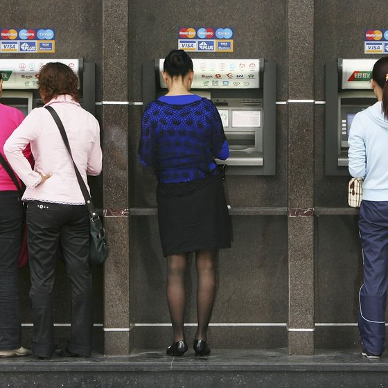 ATMs in Chongqing, China, resemble those in the West.