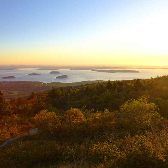 Get a great view of Acadia National Park from Cadillac Mountain.