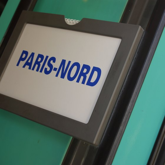 Trains to Paris arrive at different stations depending on their provenence; Netherlands trains pull into Paris Nord.