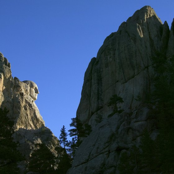 The Black Hills contain famous monuments, including Mt. Rushmore.